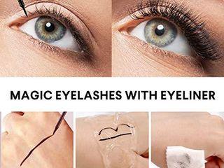 Magnetic Eyeliner and lashes Magnetic Eyelashes Kit False lashes 5 pairs with Tweezers