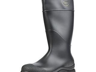 Servus Comfort Technology 14  PVC Steel Toe Men s Work Boots  Black   Steel Toe  8