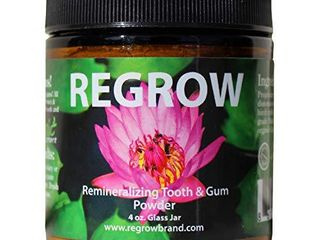 REGROW Remineralizing Tooth Powder   Stop Sensitive Teeth and Gums   Whiter Teeth Naturally   Cleans  Heals    Protects Teeth and Gums   All Natural   4oz Glass Jar