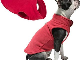 Gooby Dog Fleece Vest   Red  Medium   Pullover Dog Jacket with leash Ring   Winter Small Dog Sweater   Warm Dog Clothes for Small Dogs Girl or Boy for Indoor and Outdoor Use