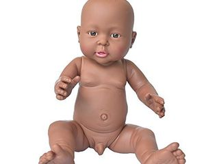 Rifi African American Baby Doll  16 Inches Nontoxic Naked latex Rotocast Blcak Baby Doll Boy