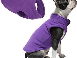 Gooby Dog Fleece Vest   lavender  Medium   Pullover Dog Jacket with leash Ring   Winter Small Dog Sweater   Warm Dog Clothes for Small Dogs Girl or Boy for Indoor and Outdoor Use