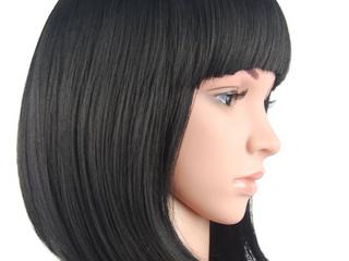 Short Black Bob Wig Synthetic Hair