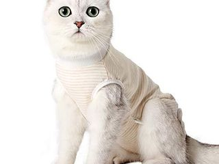 HEYWEAN Cat Professional Surgical Recovery Suit for Abdominal Wounds Skin Diseases  After Surgery Wear  E Collar Alternative for Cats  Home Indoor Pets Clothing