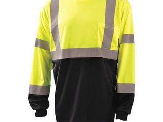 OCCUNOMIX T Shirt Hi Vis Yellow 64 in  Chest 4Xl lUX lSETPBK Y4X