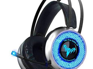 led Gaming Headset with Microphone Surround Sound Stereo Wired Gamer Headphones for PC  PS4  PS3  Xbox  Nintendo Switch Noise Cancelling Playstation Headset with USB   3 5 Jack for Teens Mens