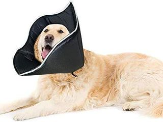E KOMG Pet Recovery Collar for Surgery with Elastic loops Protective Collar for Wound Healing  l 14 5 17 75inches