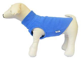 lovelonglong Dog Winter Vest Warm Breathable Dog Polar Fleece Vest Jacket  lightweight Winter Coat with leash Neck Hole for Small Medium large Dogs Blue S