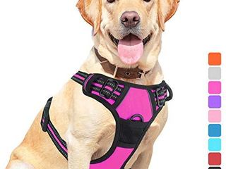 Vovodog Dog Harness No Pull Pet Harness  Adjustable Outdoor Walking Pet Reflective Oxford Soft Vest with 2 Metal Rings and Handle Easy Control for Small Medium large Dogs