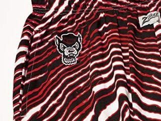 NCAA North Carolina State Wolfpack Men s Zebra Pant  Black Red  large