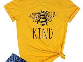 YITAN Women Cute Funny Graphic T Shirts Yellow Medium