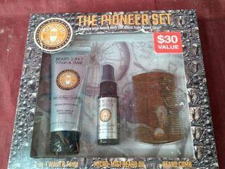 THE PIONEER SET ENHANCE YOUR BEARD WITH THE lATEST FROM BEARD GUYZ 2 in 1 wash   tone Micro  mist Beard On Beard Comb