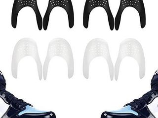 Comfowner Shoe Crease Protectors Toe Box Decreaser Prevent Shoes Crease Indentation Anti Wrinkle Shoes Creases Protector Men s 7 12  Women s 5 8 4Pairs