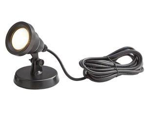 Hampton Bay 1 light Integrated lED Black low Voltage Pond light