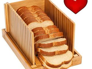 Soltans Kitchen Elegant Bread slicers guide for Homemade Bread with Crumb Catcher   Recipe Ebook   Convenient Bread loaf Slicer   Time Saving Slicing Guide   No Mess Antique Bread Cutting Guide