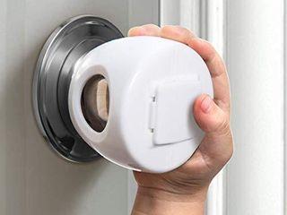 Door Knob Safety Cover for Kids  Child Proof Door Knob Covers  Baby Safety Doorknob Handle Cover lockable Design   4 Pack