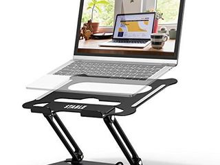 Adjustable laptop Stand  FYSMY Ergonomic Portable Computer Stand with Heat Vent to Elevate laptop  13 lbs Heavy Duty laptop Holder Compatible with MacBook  Air  Pro All laptops  Black