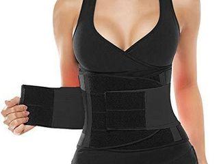 SHAPERX Women Waist Trainer Belt Waist Trimmer Belly Band Slimming Body Shaper Sports Girdles Workout Belt  SZ8002 4 Black S