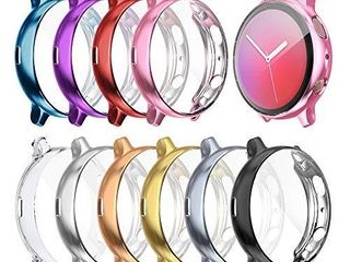 Case Compatible with Galaxy Watch Active 2 Full Cover Case Screen Protector Soft Plated TPU Scratch Resistant Slim Cover for Galaxy Watch Active 2 40mm 44mm  10 Pack  44mm