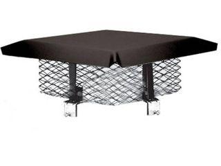 Master Flow 9 in  x 18 in  Galvanized Steel Adjustable Chimney Cap in Black