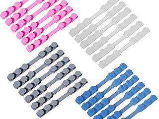 24 Pieces Ear Strap Hook Adjustable Extension Buckle Ear Cord Strap Extender for Snugly Extending Face Cover Ear loop  4 Colors