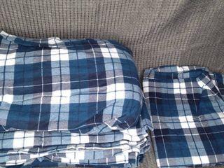 Blue Plaid Twin Sheet Set