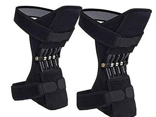 Power Knee Brace  2 Packs Joint Support Knee Pads Recovery Brace Protective Sports Knee Breathable Protective Sports Knee Stabilizer Pads Rebound Spring Force Knee Power Enhancer Booster