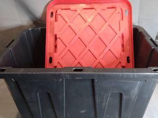 DlDM Black Storage Tote With Red lid