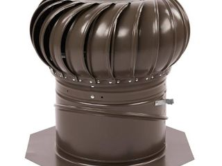 GAF Master Flow GIC12WW Internal Braced Rotary Turbine Ventilator  12  Steel  Galvanized