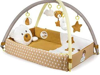 Baby Play Gym   Activity Mat with Developmental Hanging Toys for Infants Toddlers and Newborns Ages 0    Brown
