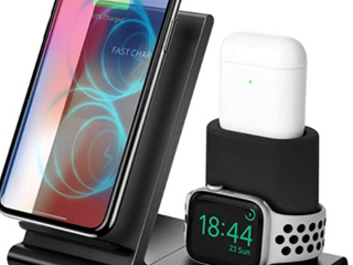 3 IN 1 FAST CHARGE  7 5W 10W  WIRElESS CHARGING STATION
