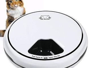 TDYNASTY DESIGN 5 Meal Automatic Cat Feeder  Cat Dog Trays Dry Wet Food Dispenser  Auto Pet Feeder Cats with Programmable Timer  Auto Cat Feeders   Cat Mate Feeder 5x145g