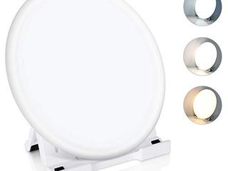 light Therapy lamp  Serfory lED UV Free 10000 lux light Source  Button Control with 3 Colors Adjustable and 4 Brightness levels  Foldable Stand  Timer and Memory Function