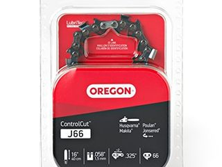 Oregon J66 ControlCut 16 Inch Chainsaw Chain  Fits Husqvarna  Poulan  Makita  Jonsered Grey