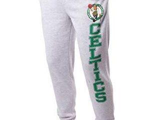Ultra Game NBA Boston Celtics Mens Team Jogger Pants  left leg logo  Small