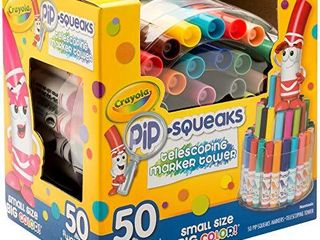 Crayola Pip Squeaks Marker Set  50 Washable Markers  Gift for Kids