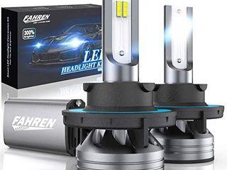 Fahren 9008 H13 lED Headlight Bulbs  60W 12000 lumens Super Bright lED Headlights Conversion Kit 6500K Cool White IP68 Waterproof  Pack of 2