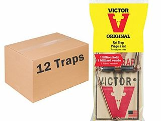 Victor Metal Pedal Rat Trap  Pack of 12
