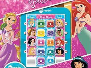 Disney Princess Cinderella  Belle  Ariel  and More  Me Reader Electronic Reader and 8 Sound Book library   PI Kids