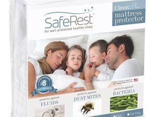 SafeRest Twin Extra long  Xl  Size Classic Plus Hypoallergenic 100  Waterproof Mattress Protector   Vinyl Free