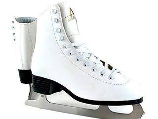 American Athletic Shoe Women s Tricot lined Ice Skates  White  5  52205