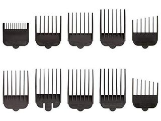 Wahl Professional Animal Attachment Guide Comb 10 Pack Grooming Set for Wahl s Show Pro Plus  Iron Horse  Pro Ion  U Clip    Deluxe U Clip Pet  Dog  Cat    Horse Clippers  3173 500  Black