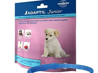 Adaptil JR  Calm On The Go Collar for Puppies   Constant Calming and Comfort Everywhere   Reduce Separation Anxiety and Fear of loud Noises   Stop Crying at Night