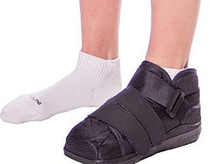 BraceAbility Closed Toe Medical Walking Shoe   lightweight Surgical Foot Protection Cast Boot with Adjustable Straps  Orthopedic Fracture Support  and Post Bunion or Hammertoe Surgery Brace  l