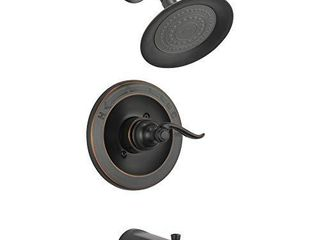 Delta Faucet Windemere Single Function Tub and Shower Trim Kit with Single Spray Shower Head  Oil Rubbed Bronze BT14496 OB  Valve Not Included