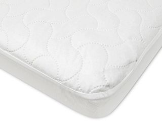 American Baby Company Waterproof Fitted Porta Mini Crib Protective Mattress Pad Cover  White  1 Count  for Boys and Girls