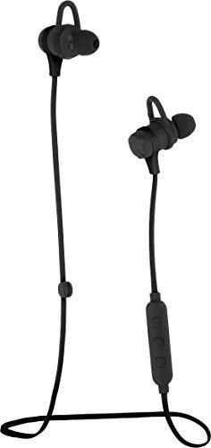 Amazon Basics Wireless Bluetooth Fitness Headphones Earbuds with Microphone  Black