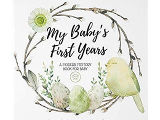 Baby First 5 Years Memory Book Journal   90 Pages Hardcover First Year Keepsake Milestone Newborn Journal for Boys  Girls   All Family  lGBT  Single Mom Dad  Adoptive  Wonderland