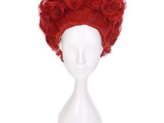 COSPlAZA lovely One Piece Short Curly Wave Anime Red Heart Girls Theme Party Cosplay Costume Wigs