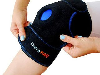 Knee Ice Pack Wrap by TheraPAQ  Hot   Cold Therapy Knee Support Brace   Reusable Compression Sleeve for Bursitis Pain Relief  Meniscus Tear  Rheumatoid Arthritis  Injury Recovery  Sprains   Swelling